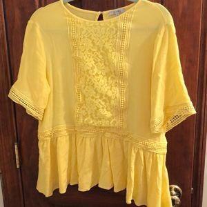 Yellow patterned shirt
